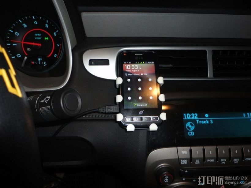 LG Optimus Q手机支架  3D打印模型渲染图