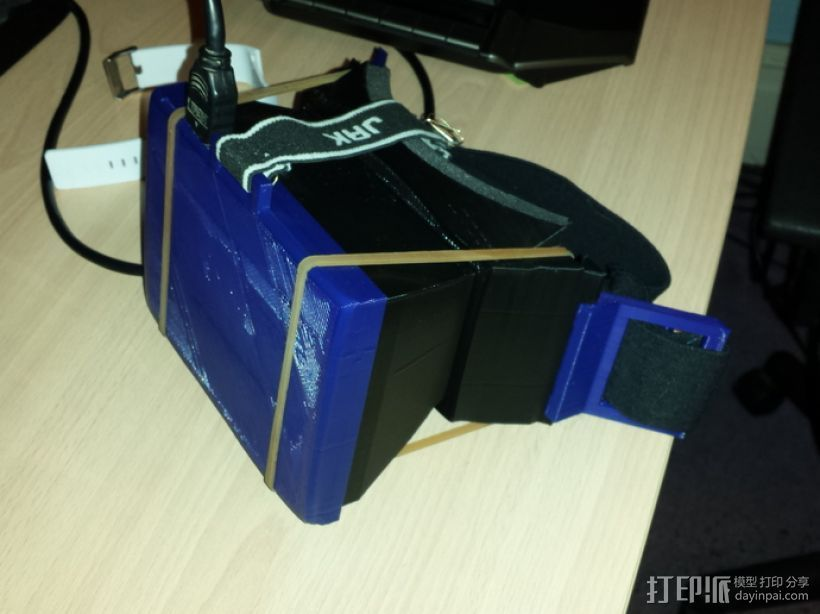 PC版虚拟现实眼镜 3D打印模型渲染图