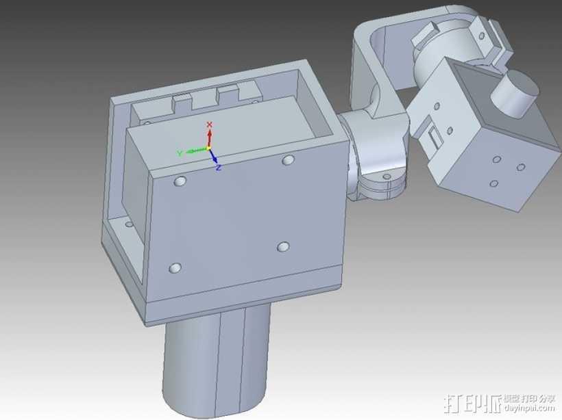 相机固定器万向接头 3D打印模型渲染图