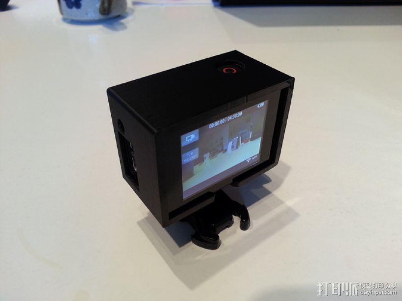 GoPro Hero 3相机保护框 3D打印模型渲染图