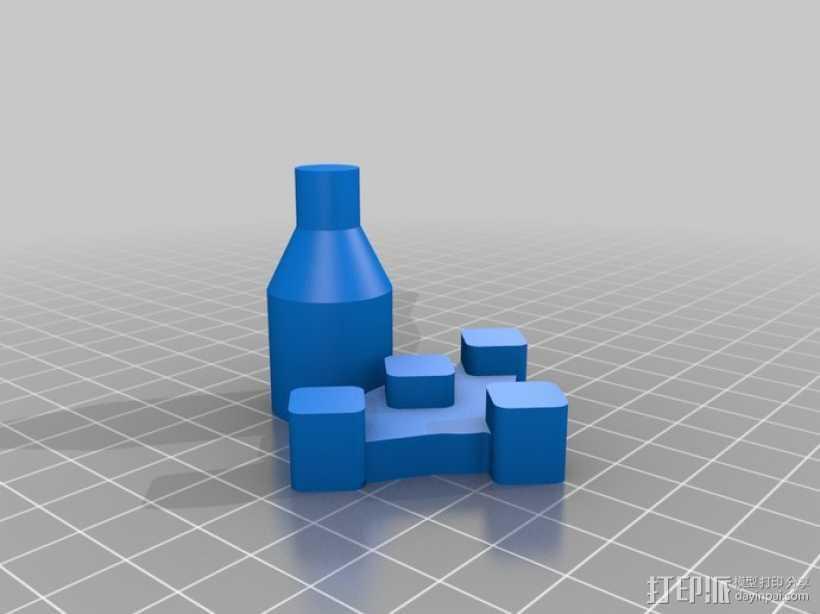 控制杆 3D打印模型渲染图