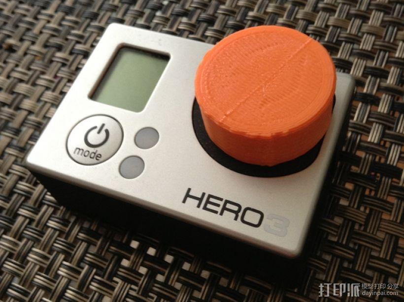 GoPro 3相机镜头盖 3D打印模型渲染图