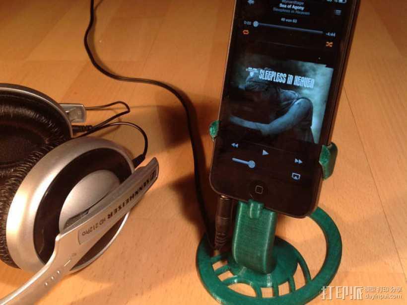 iPhone 5手机支架 3D打印模型渲染图