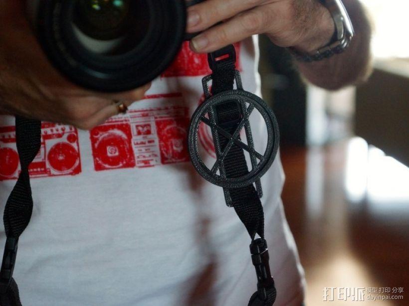 相机镜头盖盖扣 3D打印模型渲染图