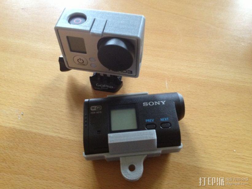 索尼运动相机支架 3D打印模型渲染图