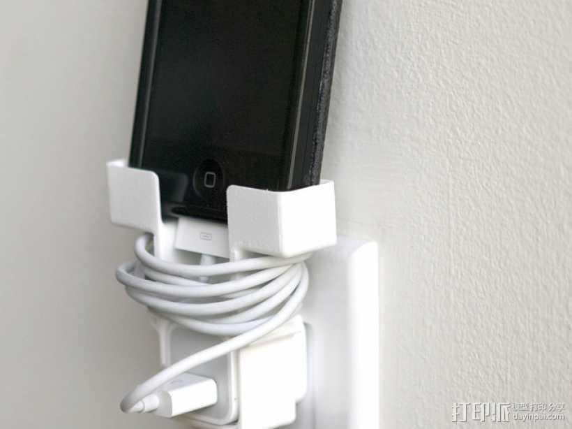 壁挂式手机充电座 3D打印模型渲染图
