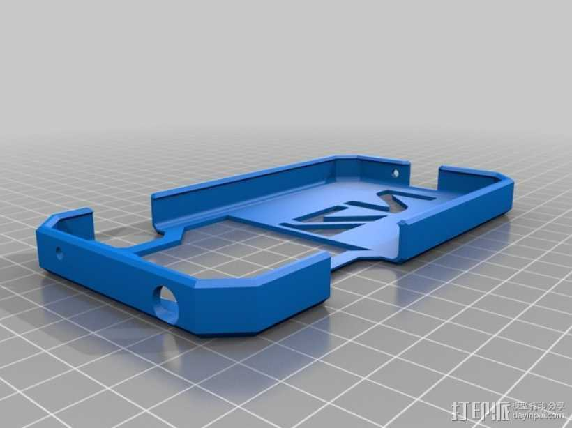 Nexus 4手机保护框 3D打印模型渲染图