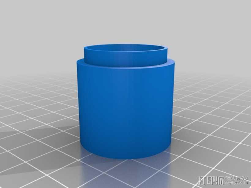 相机镜头延伸管 3D打印模型渲染图