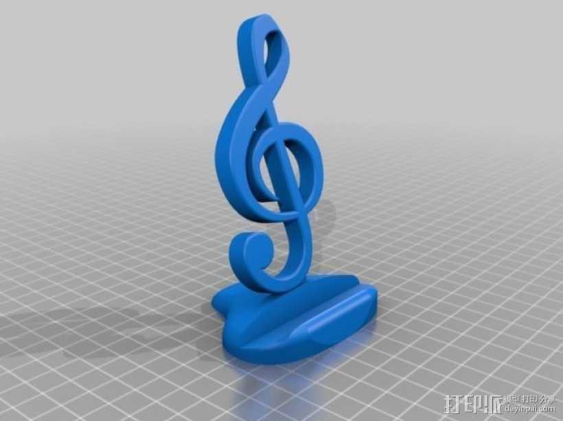 音符手机支架 3D打印模型渲染图