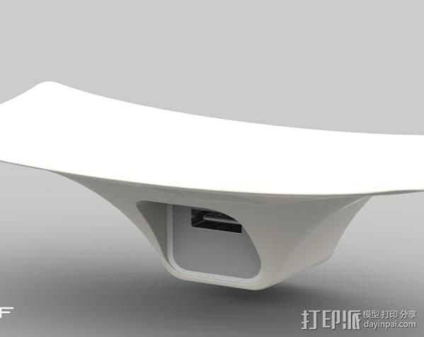 摇篮形手机支架 3D打印模型渲染图