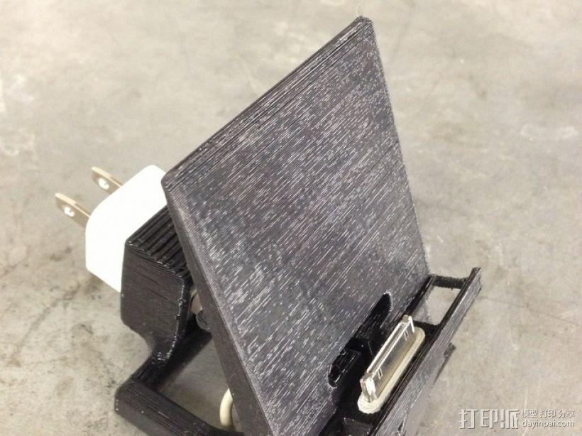 iPhone 4, 4s带扩音器充电座 3D打印模型渲染图