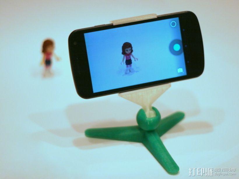 手机照相支架 3D打印模型渲染图
