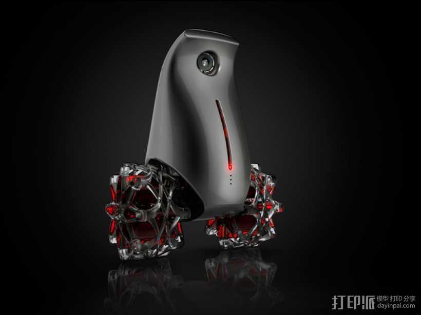 小鸟机器人 3D打印模型渲染图
