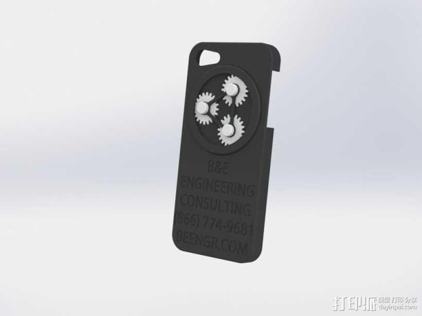 齿轮iPhone5 手机外壳 3D打印模型渲染图