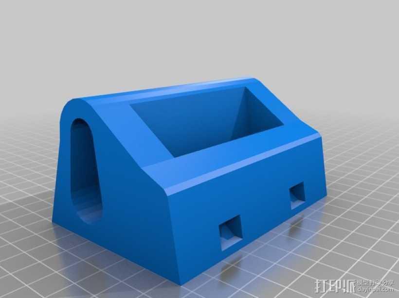 IPhone 4s 手机充电座 3D打印模型渲染图