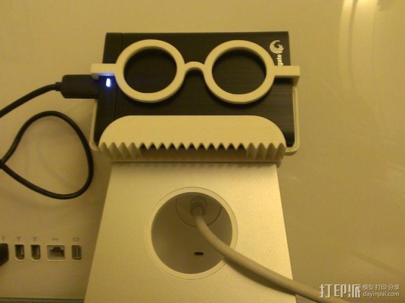 硬盘驱动器支架 3D打印模型渲染图