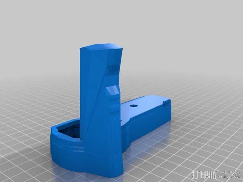 olympus相机手柄 3D打印模型渲染图