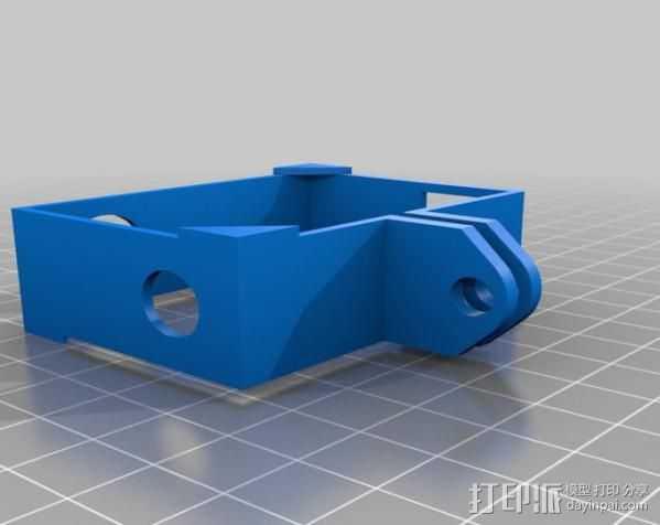 GoPro Hero3相机外框支架 3D打印模型渲染图