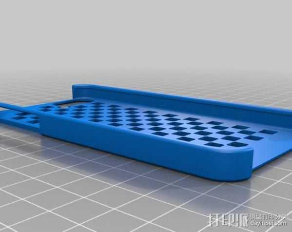 棋盘iPhone 5手机外壳 3D打印模型渲染图