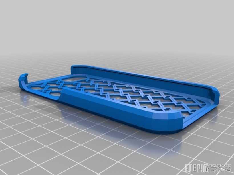 网格iPhone5手机外壳 3D打印模型渲染图