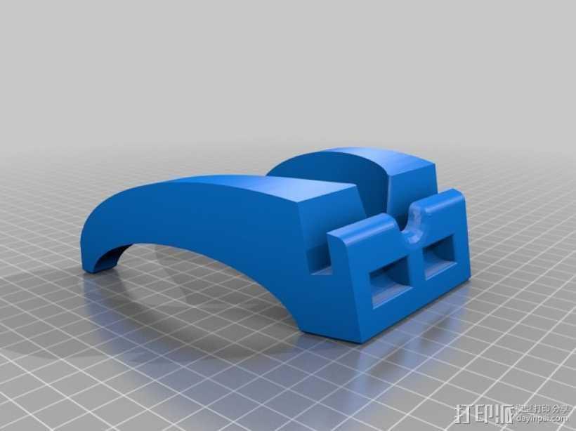 iPad mini平板电脑支架 3D打印模型渲染图
