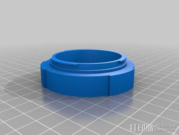 EOS-相机镜头适配器 3D打印模型渲染图