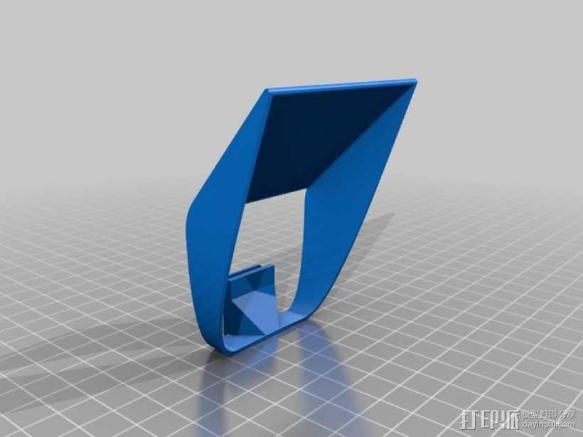 相机闪光扩散器 3D打印模型渲染图