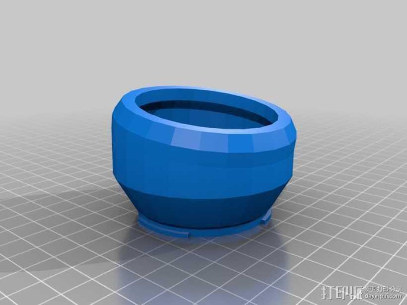 相机延时移轴适配器 3D打印模型渲染图