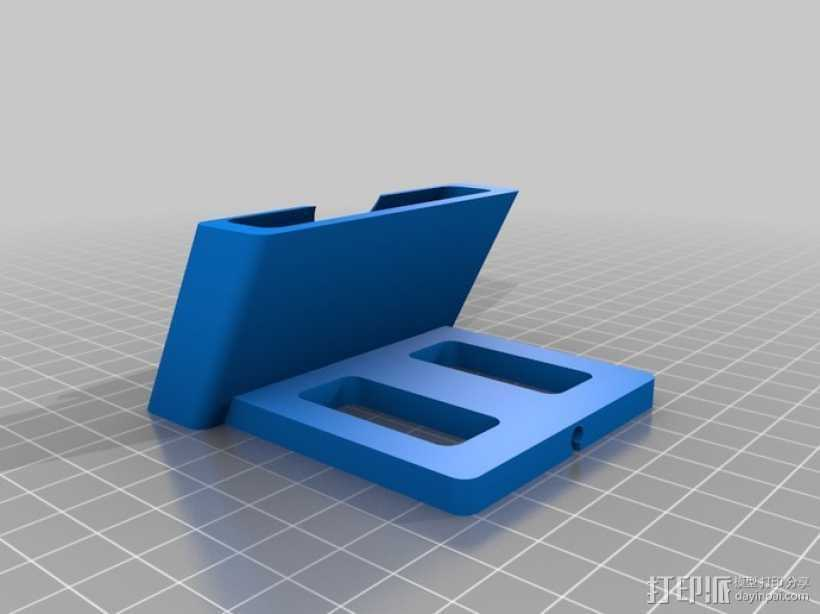 iPhone 5手机充电座 3D打印模型渲染图