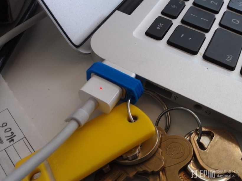 Macbook苹果电脑充电适配器 3D打印模型渲染图