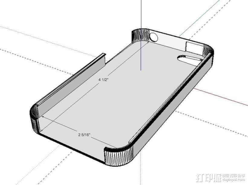 iPhone 4手机保护套 3D打印模型渲染图