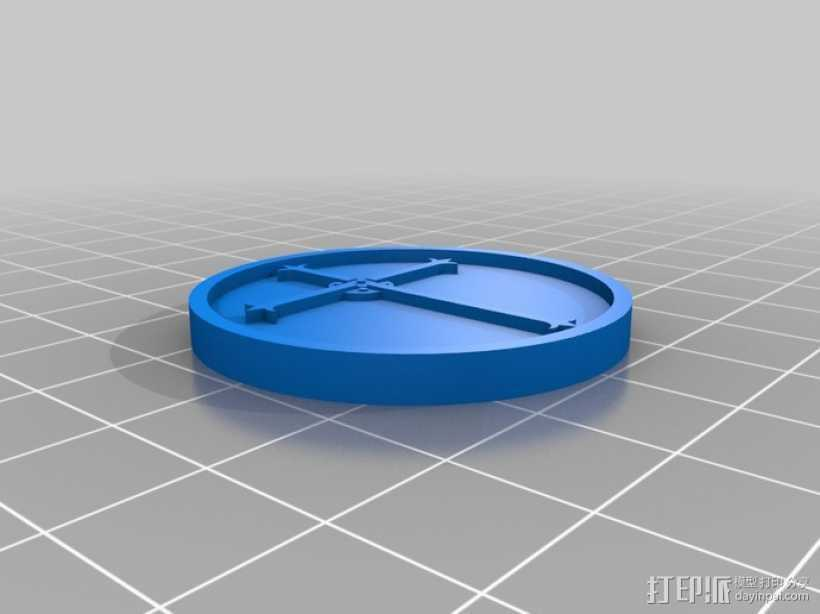 天启 硬币徽章 3D打印模型渲染图