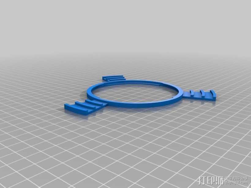 相机镜头LED灯环 3D打印模型渲染图