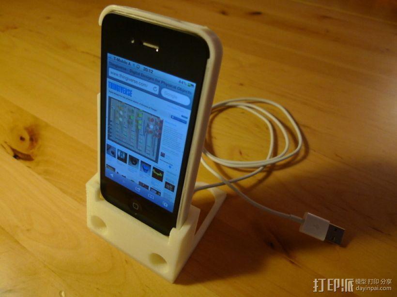 iPhone手机支架 3D打印模型渲染图