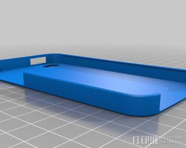 iPhone 4 手机保护外壳 3D打印模型渲染图