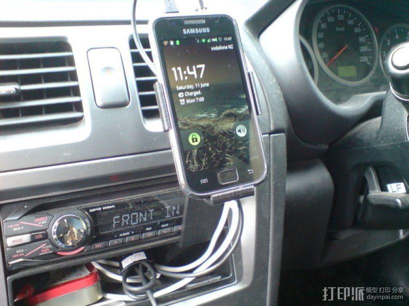 车载式Galaxy S手机支架 3D打印模型渲染图
