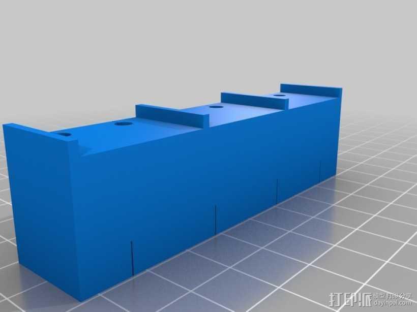 驱动器安装支架 3D打印模型渲染图