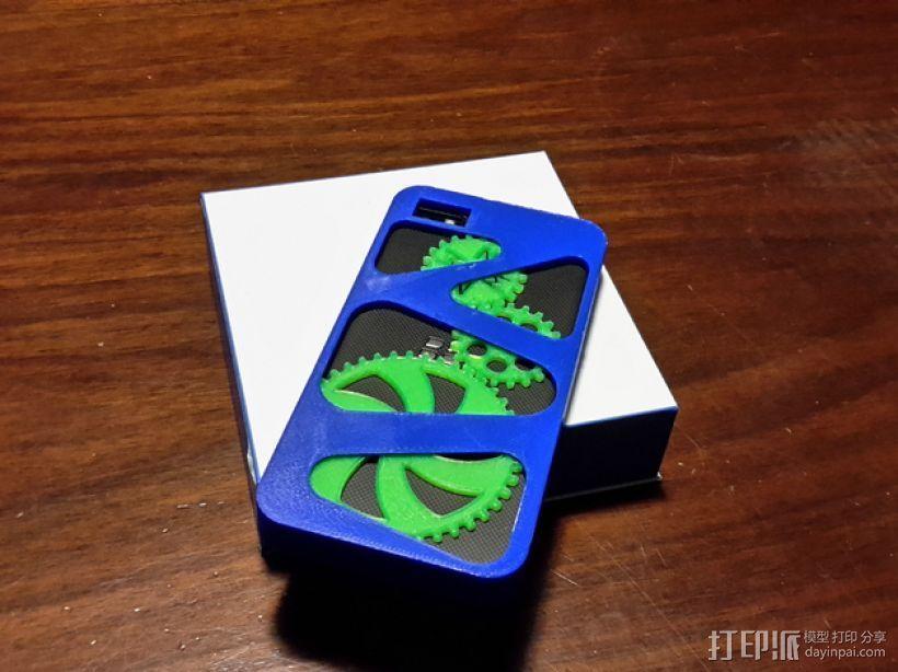 齿轮黑莓手机外壳 3D打印模型渲染图