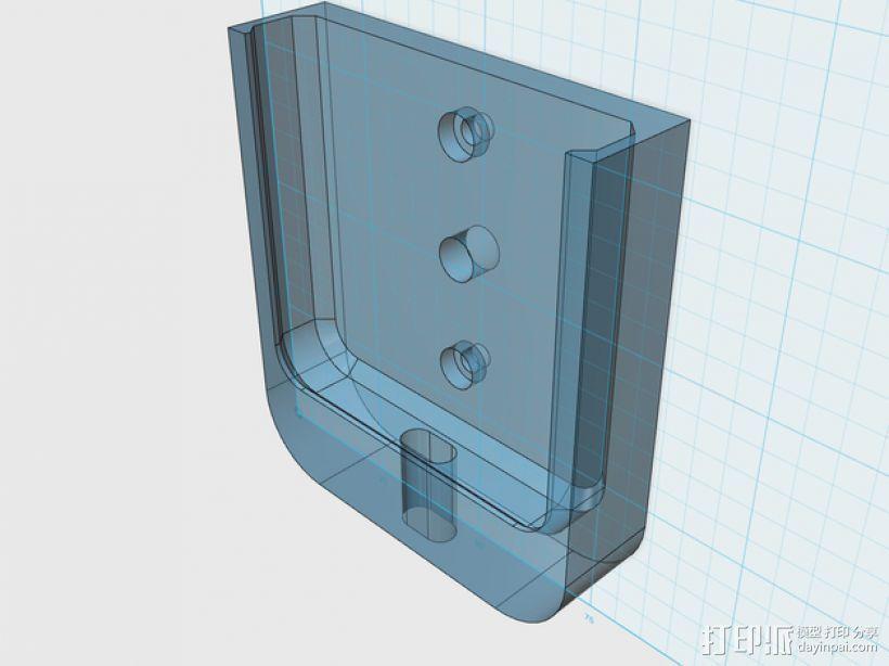 苹果5手机盖 3D打印模型渲染图