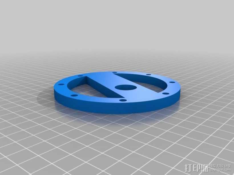 蓝色麦克风蜘蛛 3D打印模型渲染图