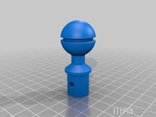 照相机光球臂 3D打印模型渲染图
