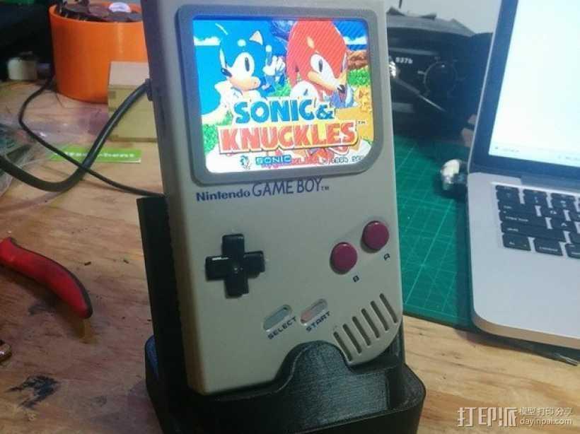 GameBoy DMG-01游戏机座 3D打印模型渲染图
