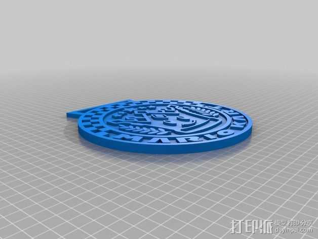 赛车专用奖杯牌 3D打印模型渲染图