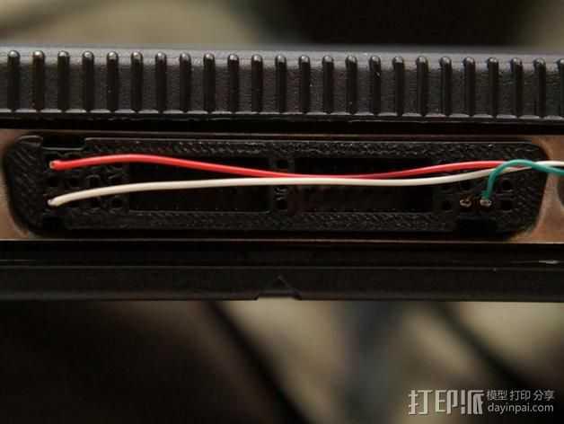 电缆适配器 3D打印模型渲染图
