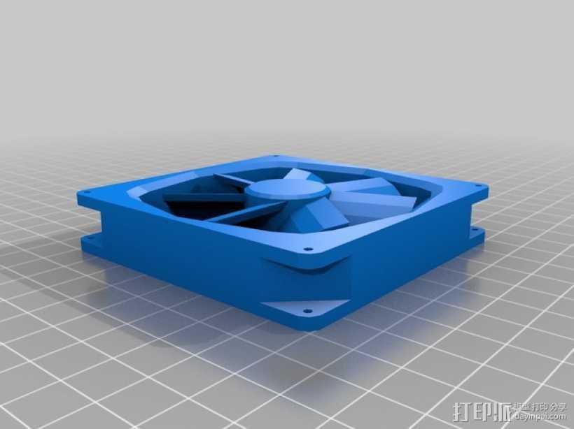 电脑散热器 3D打印模型渲染图
