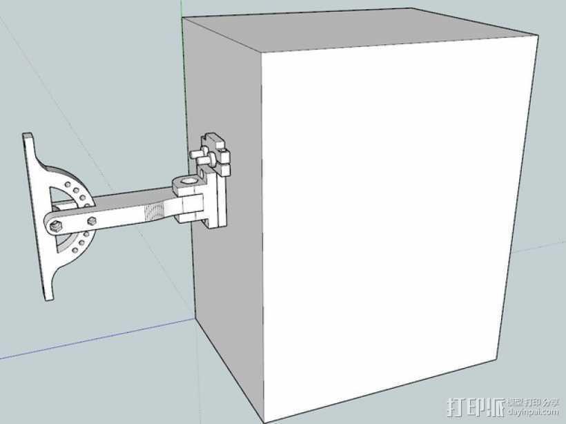 演讲设备挂载 3D打印模型渲染图