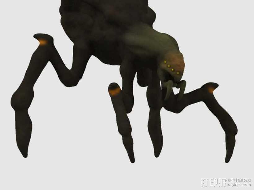 昆虫 3D打印模型渲染图