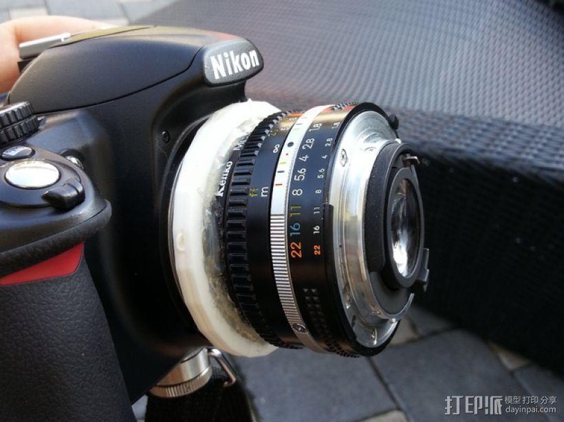 尼康相机适配器 3D打印模型渲染图