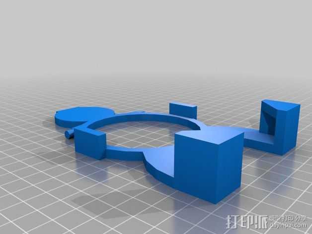 无线充电站 3D打印模型渲染图