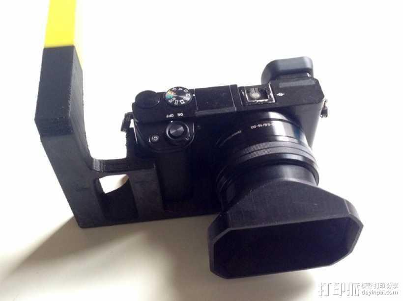 手持索尼相机支架 3D打印模型渲染图